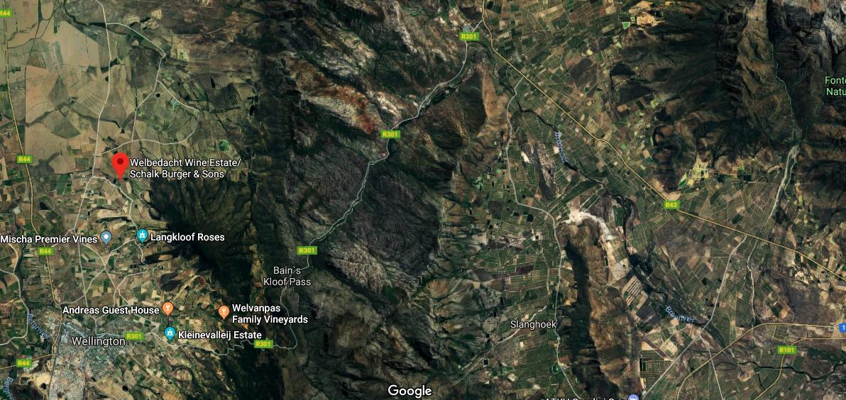 Satellite image of Day 1 Breedenet Cape Duo