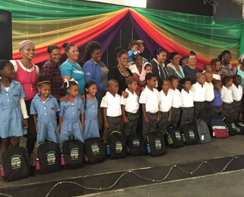 The Ground Level Super stars all ready for Grade 1 sporting CAPE DUO school bags